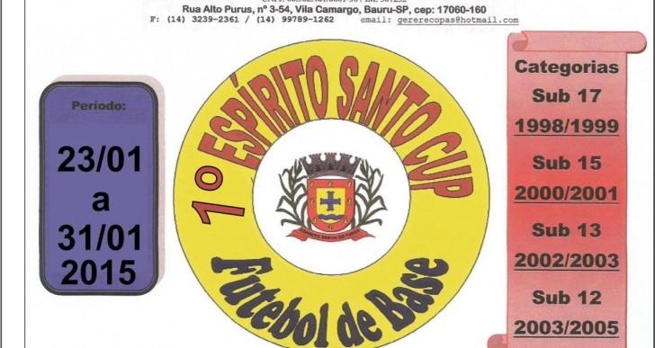 ESPÍRITO SANTO DO TURVO REALIZA 1º ESPÍRITO SANTO CUP FUTEBOL DE BASE