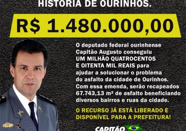 A ATUAÇÃO DO DEPUTADO CAPITÃO AUGUSTO (PR) POSSIBILITARÁ AINDA MAIS MELHORIAS PARA OURINHOS
