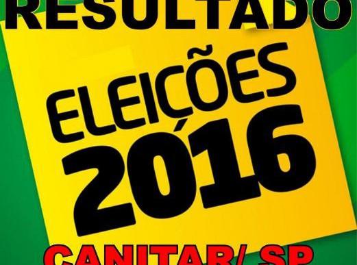 RESULTADO ELEIÇÕES 2016 – CANITAR/ SP