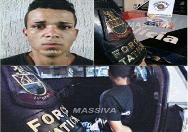FORÇA TÁTICA PRENDE VITINHO NO TRÁFICO DE DROGAS NA VILA SÃO LUIS.