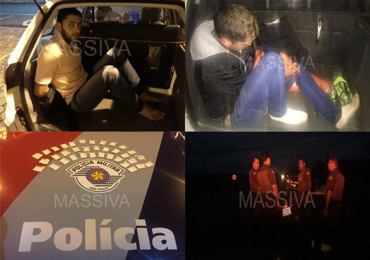 POLÍCIA MILITAR DE IPAUSSU PRENDE DOIS INDIVÍDUOS COM 35 PORÇÕES DE COCAÍNA PELA RODOVIA JOÃO BATISTA CABRAL RENNÓ