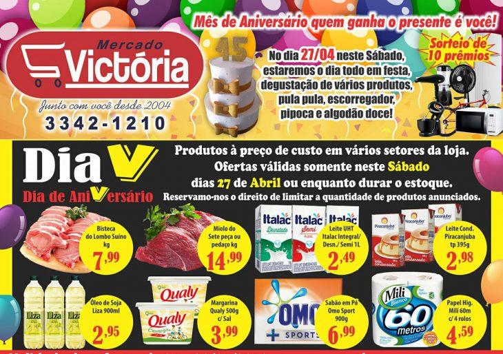 """DIA """"V"""" – DIA DE ANIVERSÁRIO DO MERCADO VICTÓRIA"""
