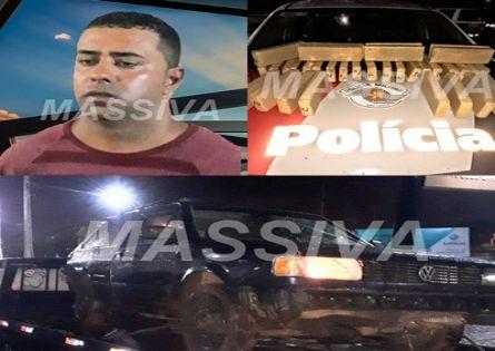 POLÍCIA MILITAR DE CHAVANTES PRENDE PIRAJUENSE COM 32 TIJOLOS DE MACONHA.