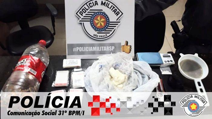 POLÍCIA MILITAR PRENDE CASAL NO TRÁFICO DE DROGAS EM CHAVANTES.