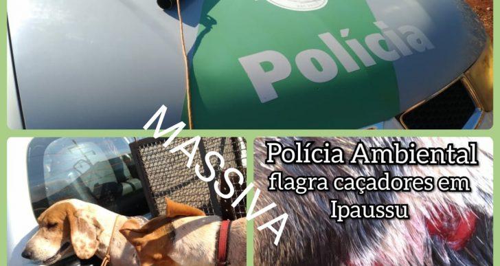 POLÍCIA AMBIENTAL SURPREENDE CAÇADOR PREDATÓRIO NA CIDADE IPAUSSU