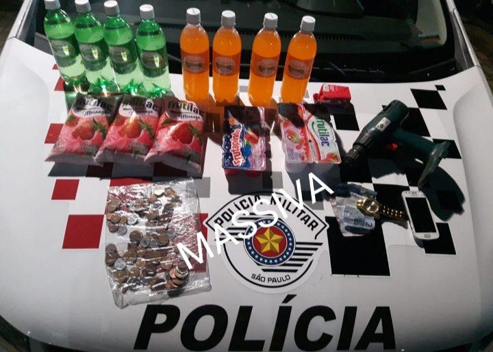 POLICIA MILITAR PRENDE DUPLA DE LARÁPIOS DURANTE FURTO A UMA PADARIA EM OURINHOS