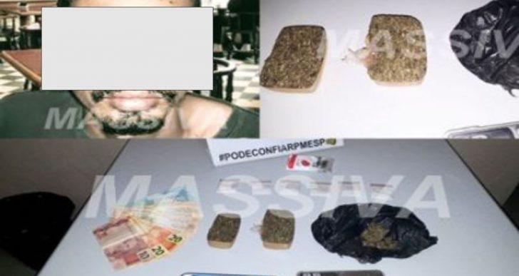 FORÇA TÁTICA PRENDE INDIVÍDUO NO TRÁFICO DE DROGAS NO DISTRITO DE IRAPÉ.