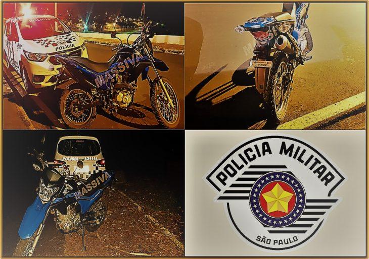 POLÍCIA MILITAR DE CHAVANTES RECUPERA MOTOCICLETA FURTADA MINUTOS DEPOIS DO OCORRIDO