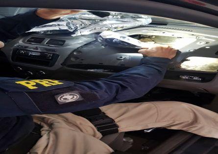POLÍCIA RODOVIÁRIA FEDERAL PRENDE CASAL NA BR 153 COM 120KG DE AGROTÓXICOS CONTRABANDEADOS DO PARAGUAY.