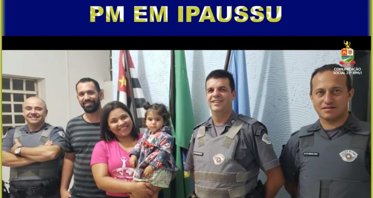 POLÍCIA MILITAR SALVA BEBÊ DE APENAS 1 ANO E 5 MESES NA CIDADE DE IPAUSSU