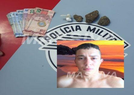 POLÍCIA MILITAR PRENDE INDIVÍDUO NO TRÁFICO DE DROGAS NO CONJUNTO OSVALDO BRIZOLA EM OURINHOS.