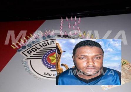 POLÍCIA MILITAR PRENDE INDIVÍDUO NO TRÁFICO DE DROGAS NO H.B.V. EM OURINHOS.