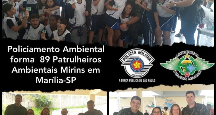 """POLICIAMENTO AMBIENTAL FORMA NOVA TURMA DE """"PATRULHEIROS AMBIENTAIS MIRINS DO PROJETO """"NATUREZA VIVA"""""""