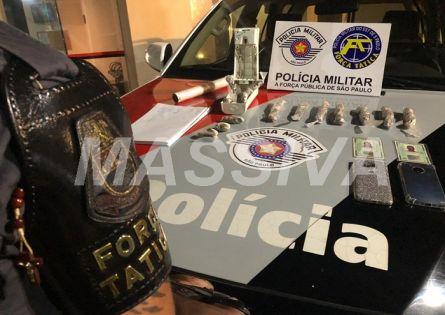 FORÇA TÁTICA PRENDE CASAL NO TRÁFICO DE DROGAS NO IRAPÉ.