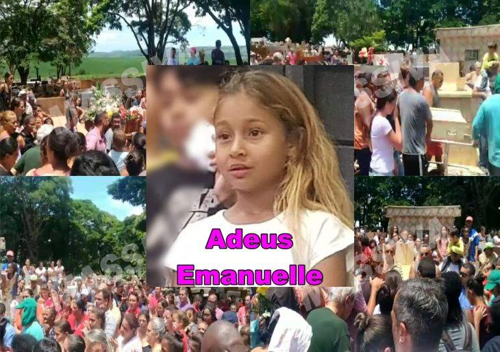 EMANUELLE RECEBE CENTENAS DE PESSOAS EM SEU SEPULTAMENTO
