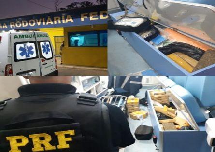 POLÍCIA RODOVIÁRIA FEDERAL APREENDE AMBULÂNCIA COM GRANDE QUANTIDADE DE MACONHA EM OURINHOS.