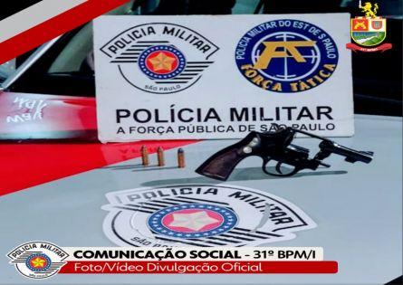 FORÇA TÁTICA E ROCAM PRENDEM CASAL E APREENDEM ARMA EM CANITAR.