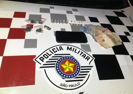 POLÍCIA MILITAR PRENDE MAIS UM NO TRÁFICO DE DROGAS NO JARDIM ITAMARATY.