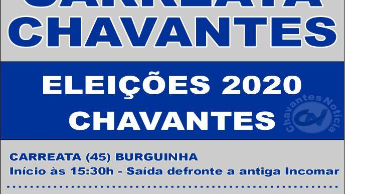 CHAVANTES DUAS CARREATAS MARCARÃO O ENCERRAMENTO DA CAMPANHA ELEITORAL